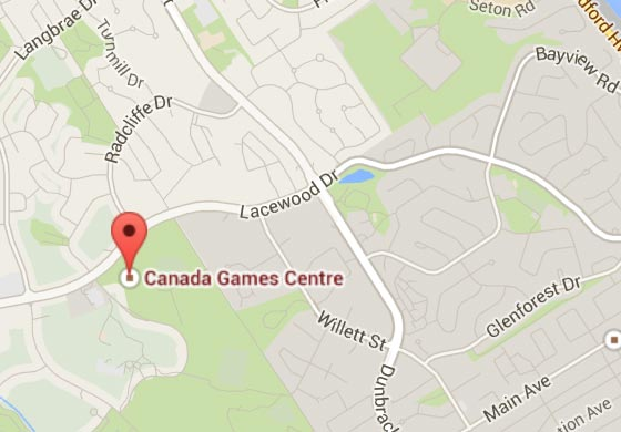 Map of Canada Games Centre