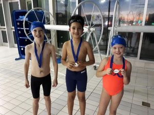 Jack, AJ and Bella with their medals